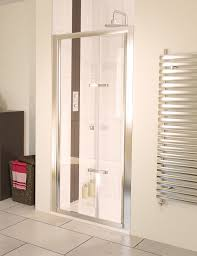 aqua 6 bifold polished silver frame shower door 760mm aqualux