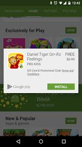 free in app purchases android play offers its free app of the week a pbs app tucked