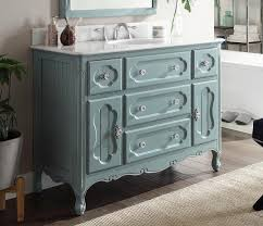 Blue Bathroom Vanity by 48 Inch Antique Cottage Bathroom Vanity Antique Blue Finish White