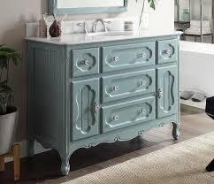 48 inch antique cottage bathroom vanity antique blue finish white