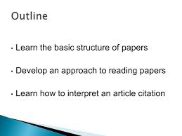 how to write publish a scientific paper pdf instructor dr marinella sandros 1 nanochemistry nan 601 how 7 learn the basic structure of papers develop an approach to reading papers learn how to interpret an article citation