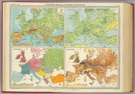 Map Of Europe Physical Features by Europe Physical Features U0026 Population David Rumsey Historical