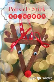 Reindeer Christmas Decoration Pattern by Make A Popsicle Stick Reindeer Ornament With Your Kids Tree