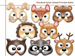 unique woodland forest animal printable masks birthday kids