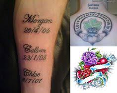 Tattoos Ideas For Kids Mickey U0026 Minnie Kid Names Tattoo Billyinkslinger Tattoos