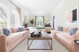 the learner observer high low blush pink sofa living room