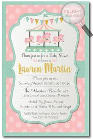 carousel baby shower vintage carousel baby shower invitations for di 4553
