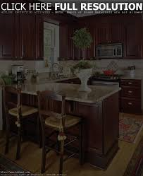 small eat in kitchen design brown dining room table chairs deep