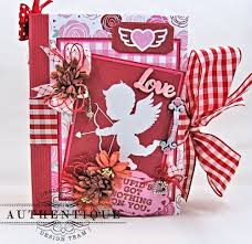 valentines1000 photo album cupid mini album sweetheartby kathy clement product by