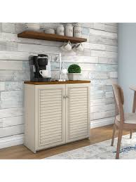 small storage cabinet with doors for kitchen bush furniture fairview small storage cabinet with doors antique white tea maple standard delivery item 5570429