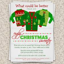 ugly sweater christmas party invitations template ugly sweater