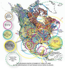Where Is Chicago On A Map by Magnetic Ley Lines In America Geology Patterns North America