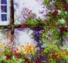 english garden wall by marcia baldwin from landscapes