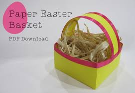 easter craft printable easter basket crafted