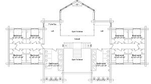 log lodge floor plans open spacious log lodge 1519du architectural designs house