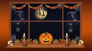 halloween wallpaper pumpkin scary house view hd download wallpaper