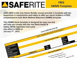 health and safety method statement template form 002 safe work