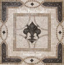 Kitchen Tile Murals Tile Art Backsplashes by Fleur De Lis Stove Backsplash Medallion U2026 Pinteres U2026