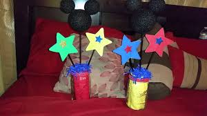 diy mickey mouse centerpieces for birthday party youtube
