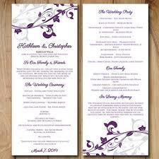 15 images of downloadable program template wedding purple