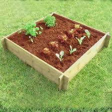 flowers for vegetable garden wooden raised border for flower bed or vegetable u0026 herb growing 1
