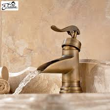 open spout bathroom faucet aliexpress com buy classical all copper single handle waterfall