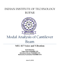 modal analysis of cantilever beam normal mode classical mechanics