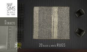 Black Rugs Mod The Sims Black U0026 White Rug Collection