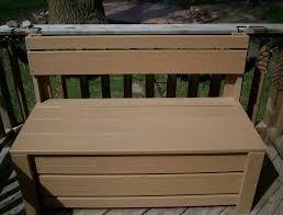 wooden patio storage bench home design ideas
