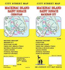 map of mackinac island mackinac island st ignace michigan map gm johnson maps