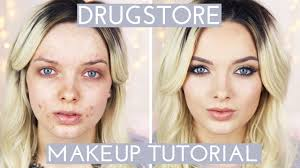 acne coverage drugstore makeup tutorial mypaleskin youtube