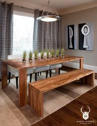 Rustic Dining Room Bench Save Your Limited Space With Diy Dining Table Ideas