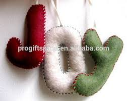 Felt Christmas Decorations Wholesale by 2017 New Sales China Handmade Sewing Hang Letters Ornament