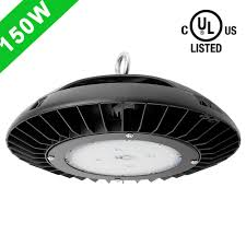 high bay shop lights 150w dimmable ufo led high bay lighting for gym warehouse garage ul