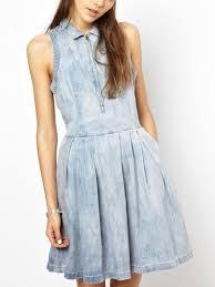 light blue mini dress light blue zip front denim mini dress stayingsummer