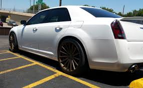 22 inch staggered vossen vfs2 matte bronze on 2014 chrysler 300