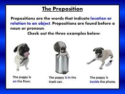 prepositions mrs warner u0027s 4th grade classroom