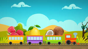 cartoon for kids fruit train learning fruits with kids