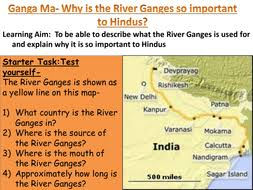 the river ganges and hinduism by nburnett85 teaching resources tes