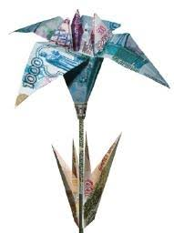 money flowers how to make an origami flower from a dollar bill