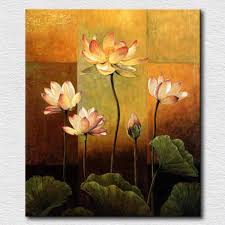 painting for bedroom noble pure lotus flowers canvas painting for bedroom reproduction