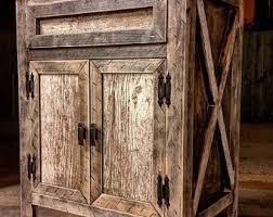 Rustic Wood Bathroom Vanity - barn wood vanity etsy