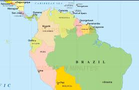 Geographical Map Of South America Interactive Map Of Latin America With Capitals World Maps