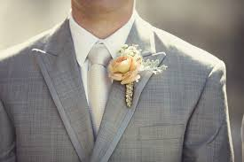 gold boutonniere whimsical wedding with watercolor details southern weddings
