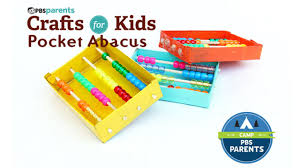 pocket abacus crafts for kids pbs parents youtube