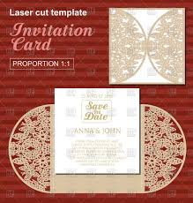 die laser cut wedding card template wedding invitation card with
