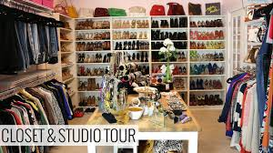 my closet and studio tour youtube