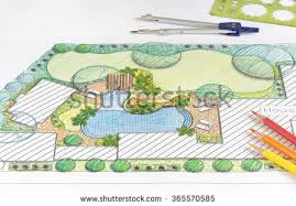 Backyard Plan Design Blueprint Stock Images Royalty Free Images U0026 Vectors