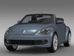 volkswagen beetle concept vw beetle cabriolet denim concept 2015 by creator 3d 3docean