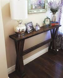 Rustic Entry Table Image Rustic Console Table Plans Rustic